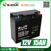 Bluesun 12v 15ah ups battery with ISO CE ROHS Certificate