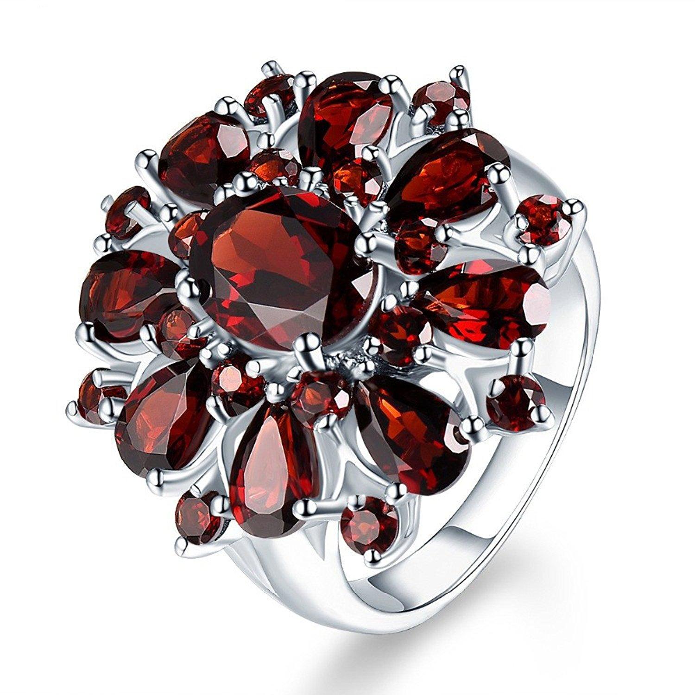 F/&T JEWEL Fashion Purple Heart Zircon White Gold Filled Jewelry Vintage Ring For Women Wedding Rings