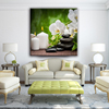 Candle stone and flower canvas photo printing painting wholesale