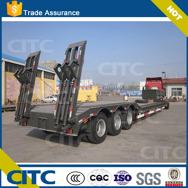CITC factory price heavy equipment truck military lowboy trailer