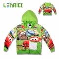 Spring Autumn Long Sleeve kid hoodie sweatshirt cotton cars pattern hoodie for 5 8years children teenager