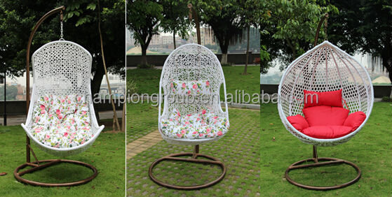 AR 0166 Round Swing Chair / Cheap Hanging Rattan Egg Chairs
