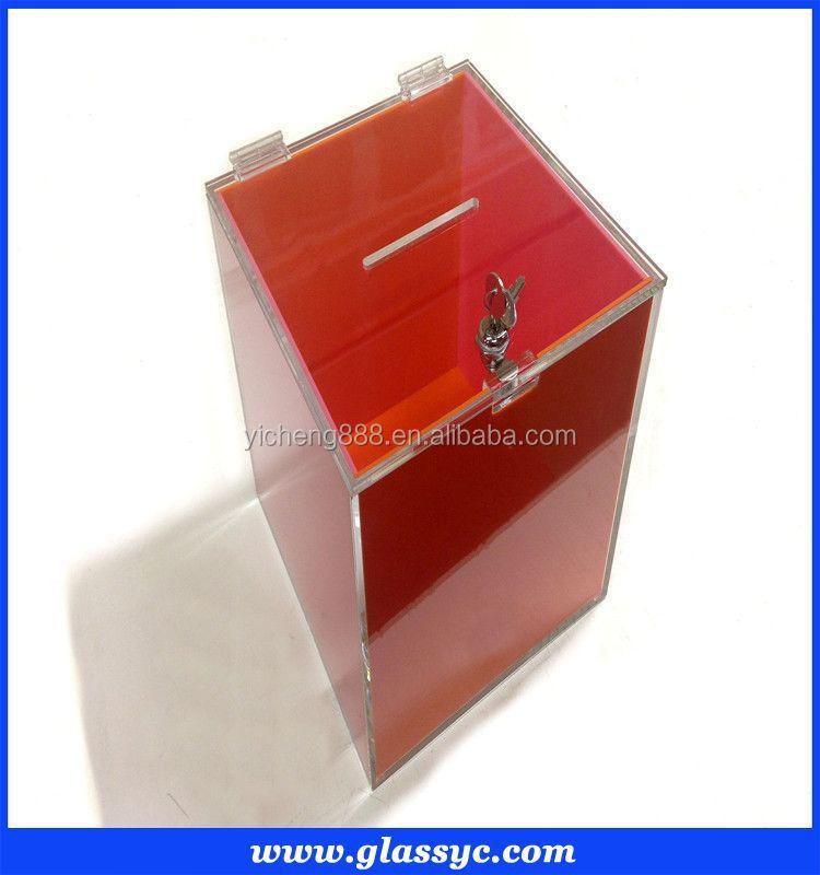 Acrylic Shoe Boxes : Clear acrylic shoe box with lid showcase custom