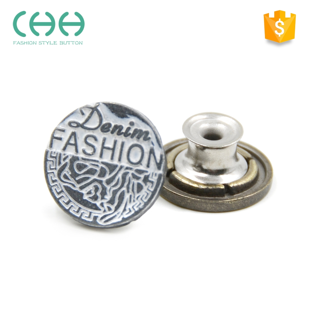 Hot selling advanced plating antirust metal jeans button