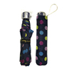 Colorful fold up umbrella with dot print color change