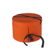 Custom high quality double layer orange cardboard paper round box with ribbon