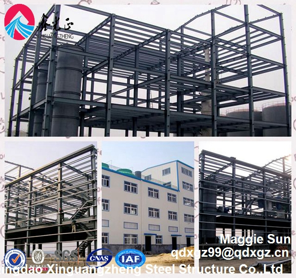 Quick build insulated large prefabricated steel frame structure
