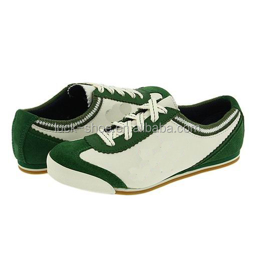 shoes leather Men customizing sneakers running shoes color green nXaqFgaZ