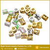 Colorful Big Hole Charm Beads Epoxy Enamel Zinc Alloy Beads Gold Plated Metal Big Hole Beads Jewelry