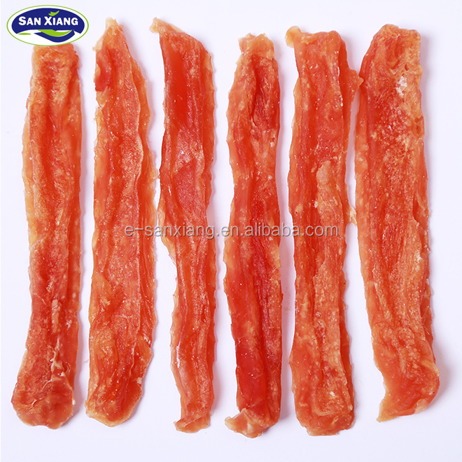 High protein chicken slice dry chicken strips dog treats pet food