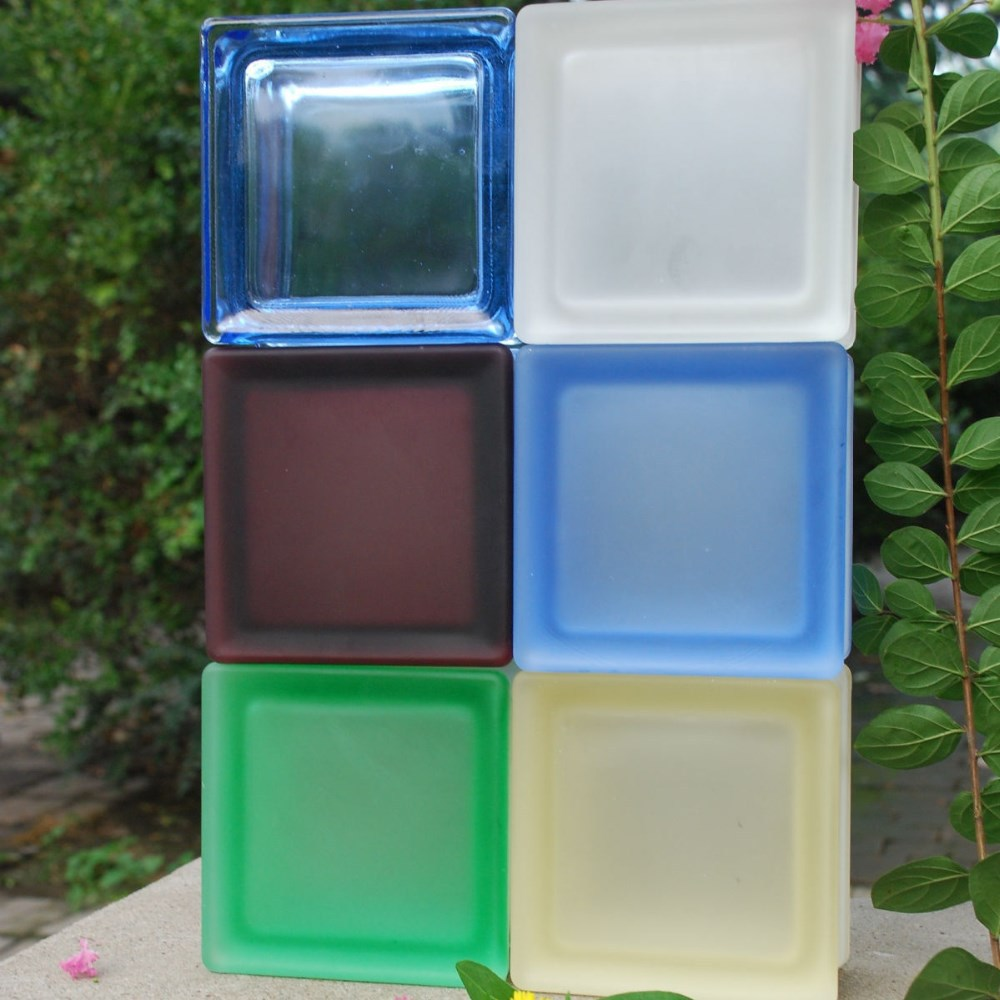 Gekleurd glas baksteen/decoratief glas voor vliesgevel blok ...