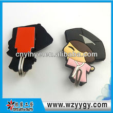chinese style 3D pvc soft plastic magnetic hook