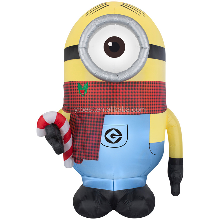 inflatable monocular minion with candy for christmas decoration