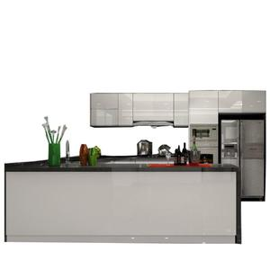 High gloss white color modern design kichen cabinet sets kitchen