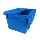 New style plastic moving crate stackable storage bins with lid