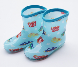 2018 High quality factory pvc transparent rain boots for kids