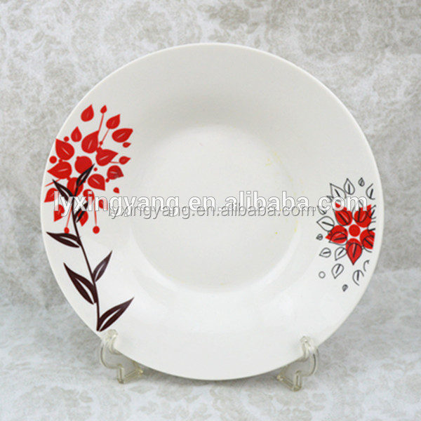 ceramic decorate dinner plate with custom design,decorative