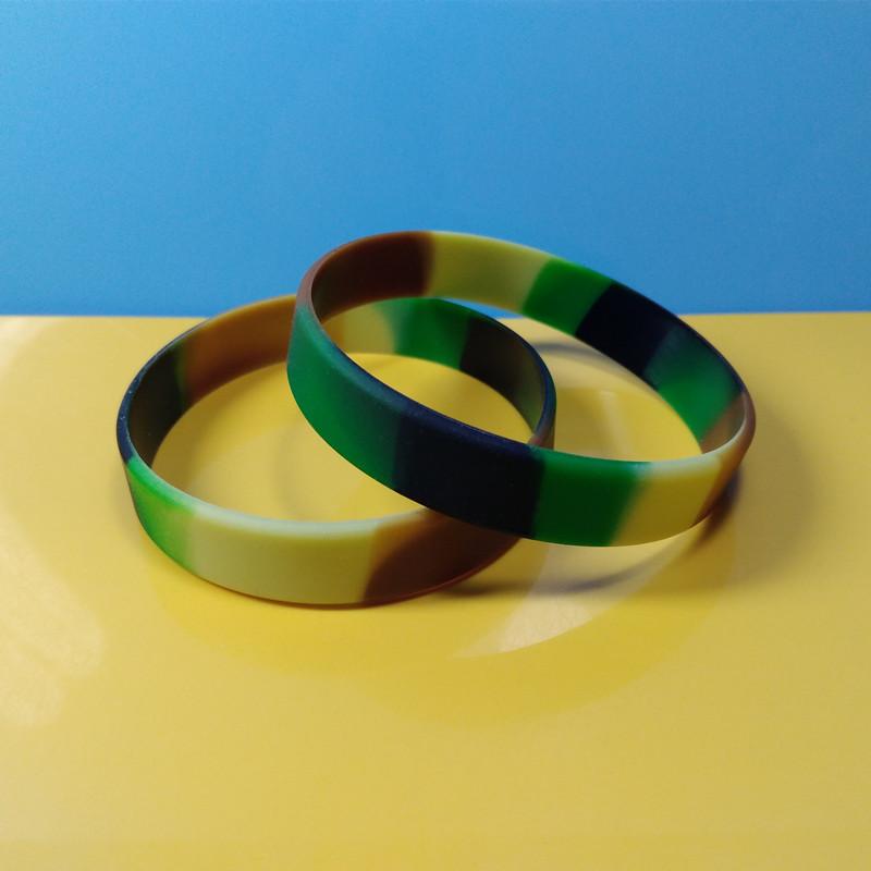 Camouflage Desert Wrinds Camo Silicone Wristbands Rainbow Color Bracelets