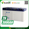 New design agm gel lead acid deep cycle battery 2v 3000ah for solar system