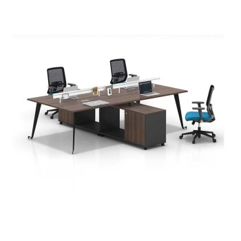 4 Person Workstation Of Office Furniture Work Station Of Removable Office Desk Partition Of Desktop Computer Table Design