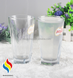 clear glass beer mugs wholesale with color changing