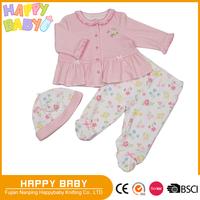 Flower Stripe Print Two Pcs Baby Girl Clothing set