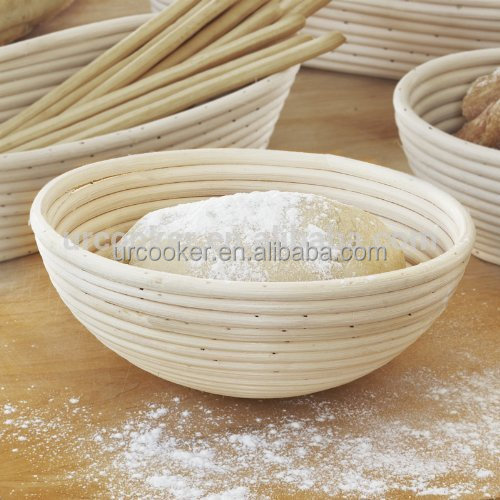 Eco-friendly Round Rattan bread proofing basket with liner