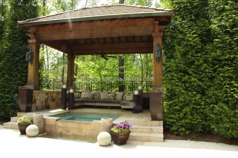 Sehr Gut Pavillon im freien mit wpc dach kunststoff-dach Pavillons großen  ZE22