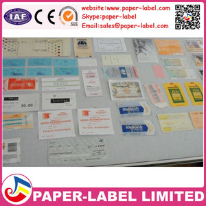 own brand made transparent stickersCompetitive Roll adhesive label/ sticker/ ticket