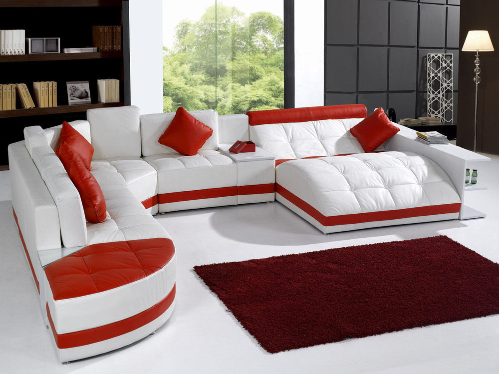 New Design Corner Sofa And U Shaped Sectional Leather Sofa