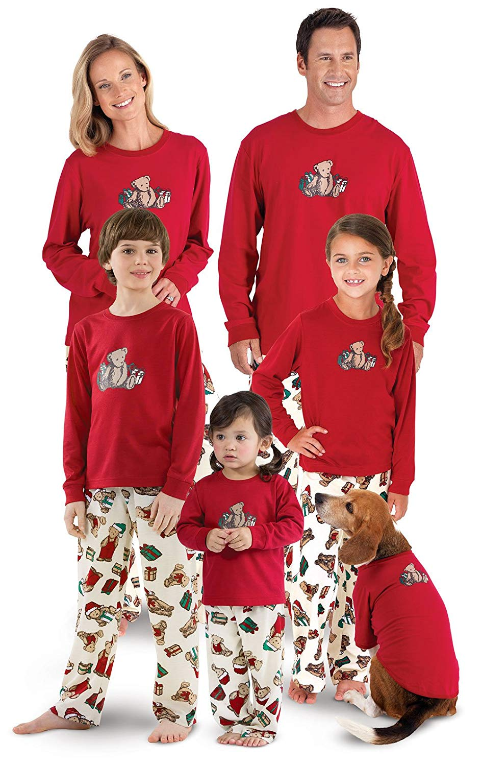 bc6a14d7a0 Get Quotations · PajamaGram Vermont Teddy Bear Christmas Matching Family  Pajamas