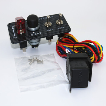 12v Ignition Switch Engine Start Push Button 3 Toggle Panel With Indicator  Light Diy Racing Style Car Modification Rocker Switch - Buy Toggle