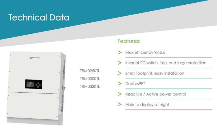 YuanChan 25KW 30KW three phase EU standard on grid solar inverter DC change to AC competitive price