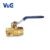 "1/2"" - 3/4"" Inch Valogin 600WOG Lead-Free IPS Solder Brass Ball Valve With Waste"