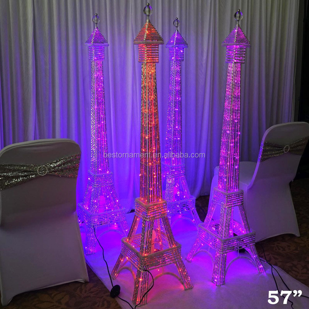 57 Tall Led Lights Eiffel Tower Centerpiece For Wedding Party
