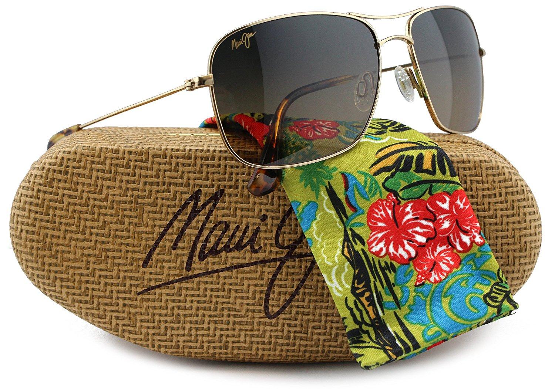 79567ab762 Maui Jim HS246-16 Wiki Wiki Sunglasses Shiny Gold w Brown Gradient (MJ