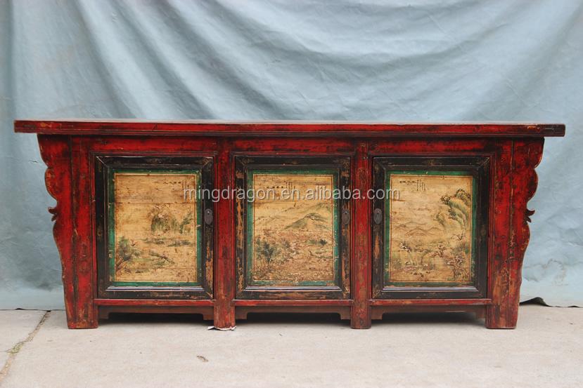 Chinese Antieke Shanxi Schilderen Dressoir Kast Buy Chinese Antieke Recycle Hout Bruiloft Kastchinese Keuken Kastenchinese Altaar Kast Product On
