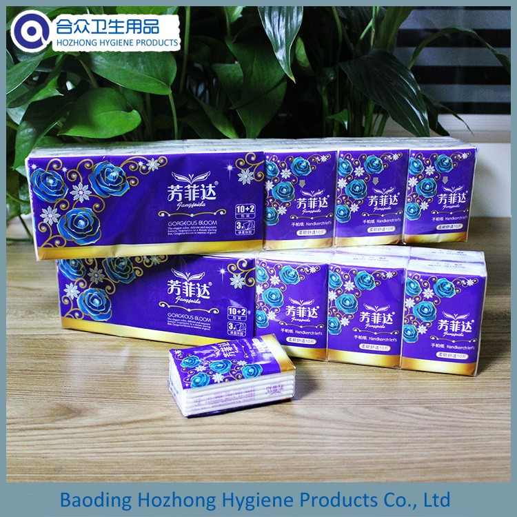travel size tissues /pocket tissue size paper /small tissue packs
