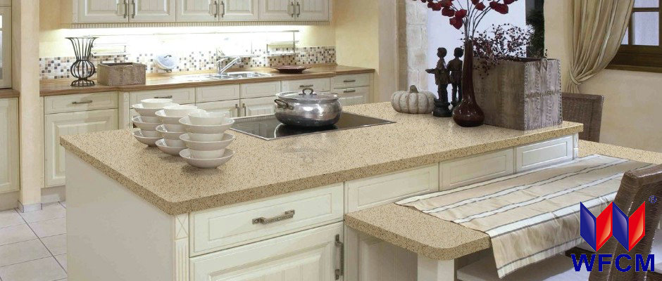 White sparkle quartz stone counter top quartz table tops for Man made quartz countertop