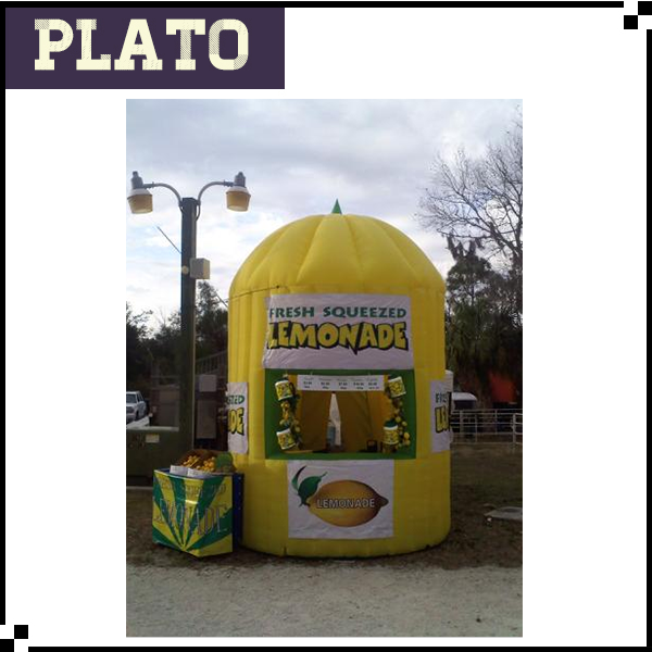 warehouse giant lemon shape inflatable booth, inflatable lemon model, inflatable lemonade outdoor booth for sale
