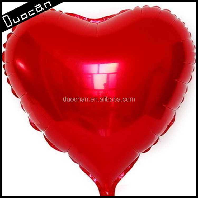 Hot sale custom heart shape helium foil balloons wholesale for party