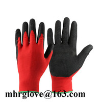 Brand MHR Large factory cheap latex coated working gloves wholesale