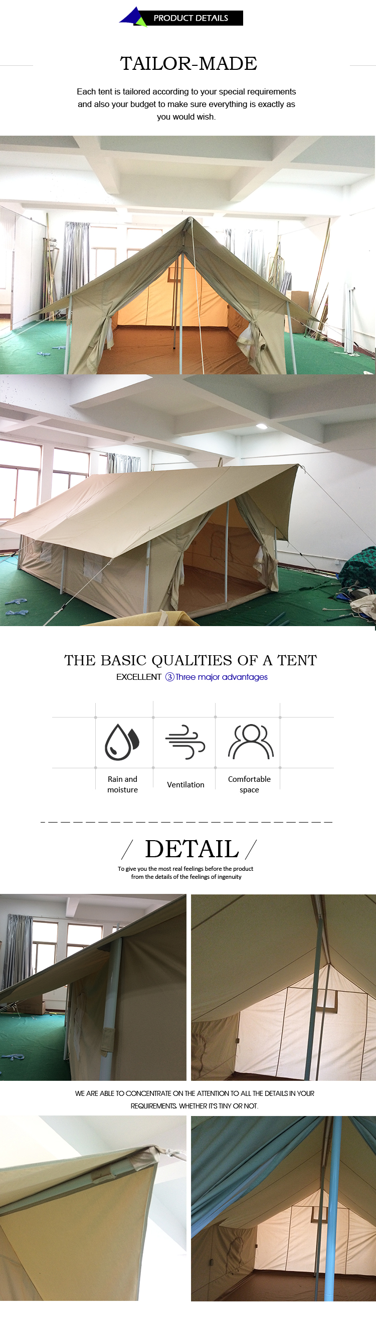 Selling goed rond de wereld canvas bell tent stof