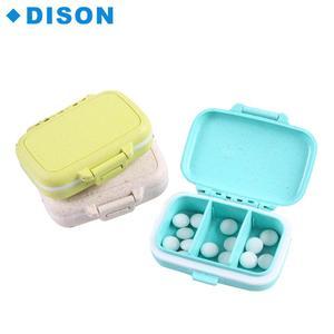 Pill Case Custom 7 days Pill Organizer Travel Small Pill Box Wheat Straw  Material Cases