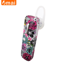 China Rohs Cheap Wireless Bluetooth Stereo Headset com microfone Sport Earpiece by Flower Pattern Design
