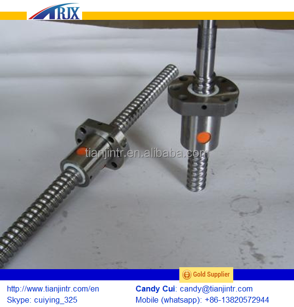 Rolled and ground ballscrew , Many diference nuts and ball screw made in China