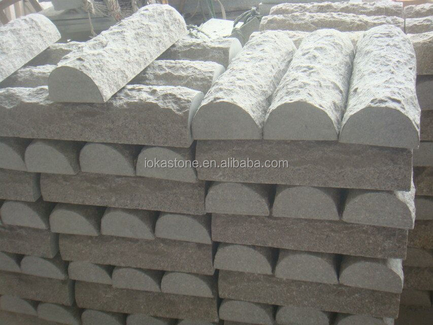 Granite Curb Pricing : Granite g curb stone road side
