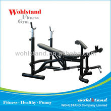 Adjustable Weight Bench w/ Squat Rack Home Gym Weight Press