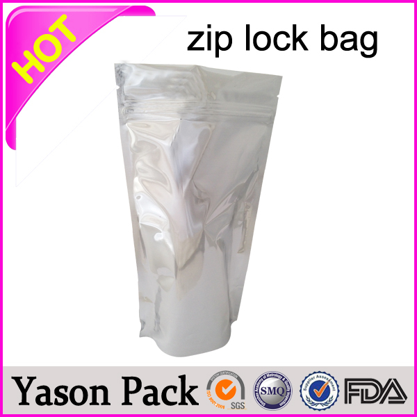 YASON zip lock poly pouch transparent cosmetic ziplock bag writable bar of zip bag