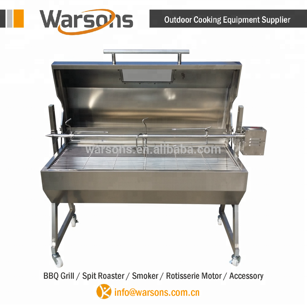 1.5m Stainless Steel Hooded Spartan Lamb BBQ Rotating Spit